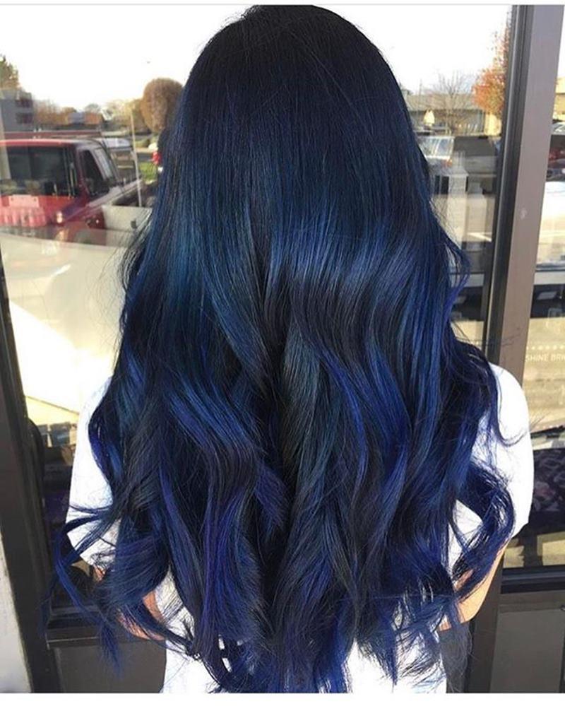 Quot Midnight Blue Hair Quot ผมสีน้ำเงินหม่นๆ ที่คนสายดาร์กต้องโดน