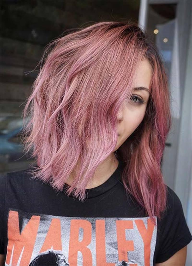 """Ash Brown Pink Hair """"Ash Pink Hair&qu..."""