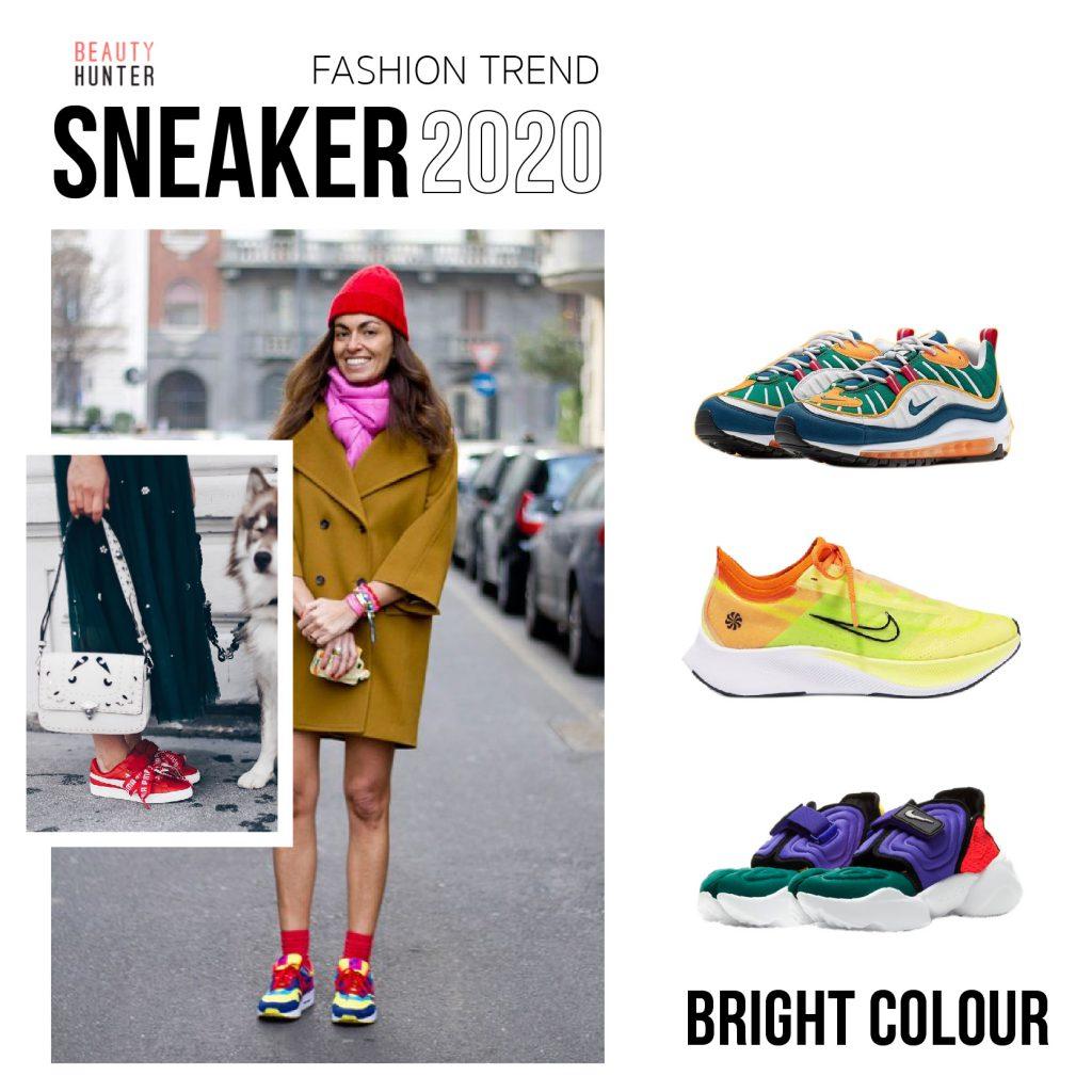 Bright hue sneaker