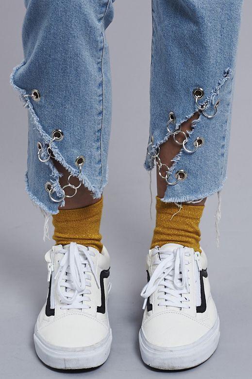 กางเกงยีนส์ DIY