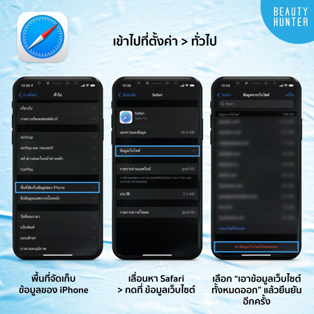 วิธีลบไฟล์ในไอโฟน